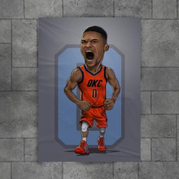 Karikatura Westbrook
