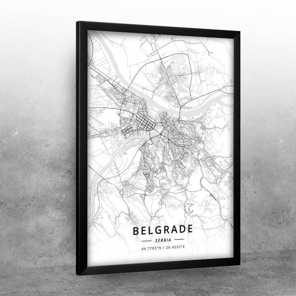 Beograd mapa - white