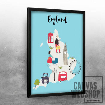 Ilustrovana mapa Engleske