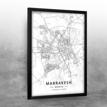 Marakeš mapa - white