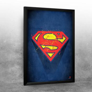 Splattered Superman logo