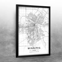Vinipeg mapa - white