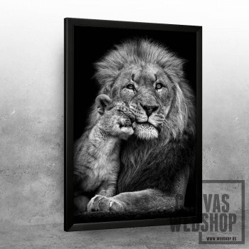 lion with baby lion