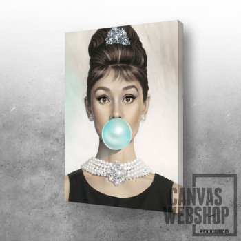 Audrey with bubble gum