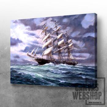 Ship on the sea