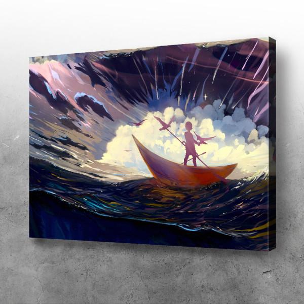 Čamac i otvoreno more