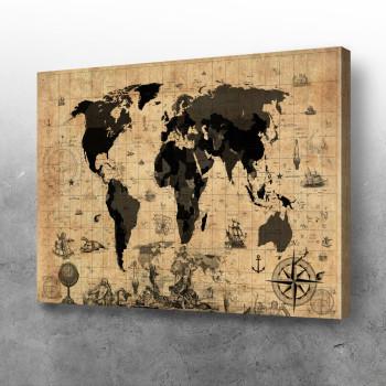 Mapa sveta sepia