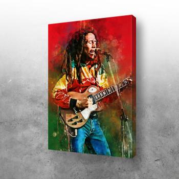 Bob Marley with guitar