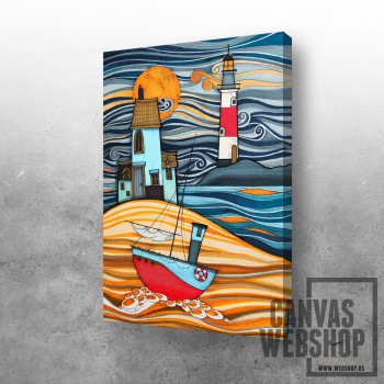 Brod i svetionik