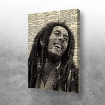 Bob Marley in newspaper