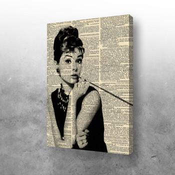 Audrey Hepburn in newspaper