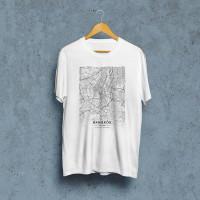 Bangkok mapa - white