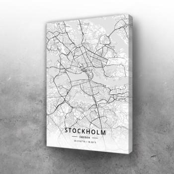 Štokholm mapa - white