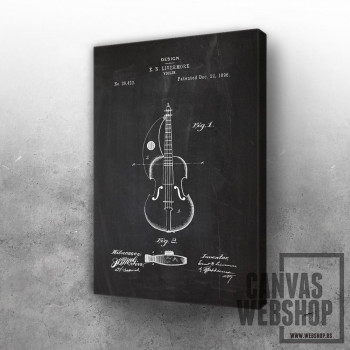 1896 Violin - Patent Drawing