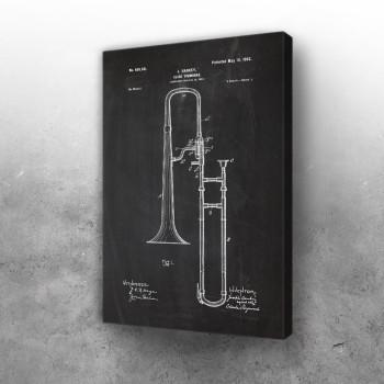 1901 Slide Trombone - Patent Drawing