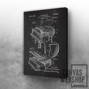 1938 Grand Piano Casing Construction - Patent