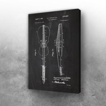 1952 Violin Construction - Patent Drawing