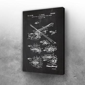 1958 Electric Violin - Patent Drawing