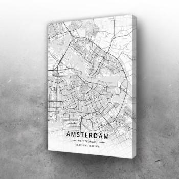 Amsterdam mapa - white