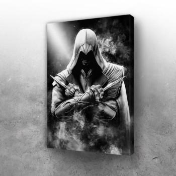 Assassins Creed crno belo