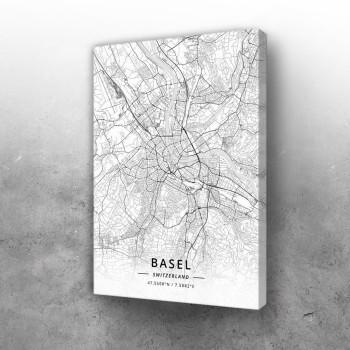 Bazel mapa - white