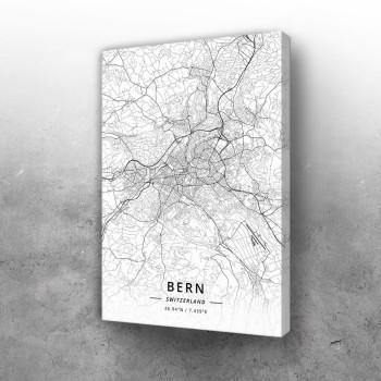Bern mapa - white