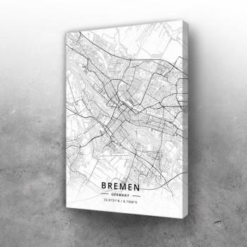 Bremen mapa - white