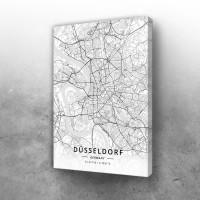 Dizeldorf mapa - white