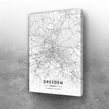 Drezden mapa - white