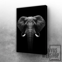 Elephant head art