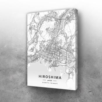 Hirošima mapa - white