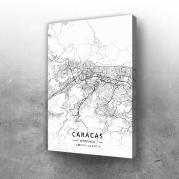Karakas mapa - white