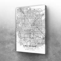 Las Vegas mapa - white
