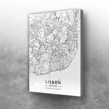 Lisabon mapa - white