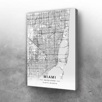 Majami mapa - white