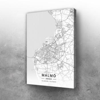 Malme mapa - white