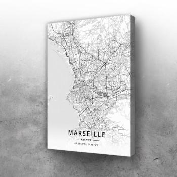 Marselj mapa - white