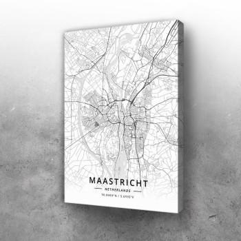 Mastriht mapa - white