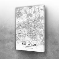 Roterdam mapa - white