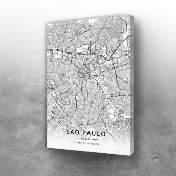 Sao Paolo mapa - white