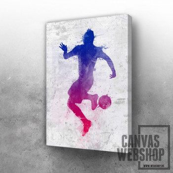 Soccer player painted 2