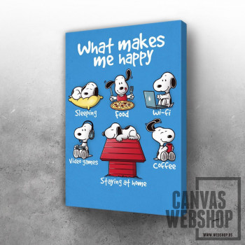 What makes me happy Snoopy