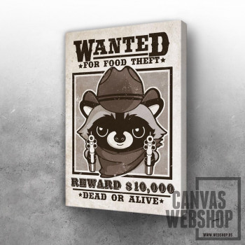 wanted racoon for food theft